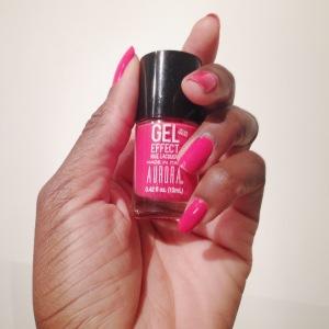 Gel like finish nail polish