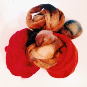 dyed roving wool from Shades of Narnia