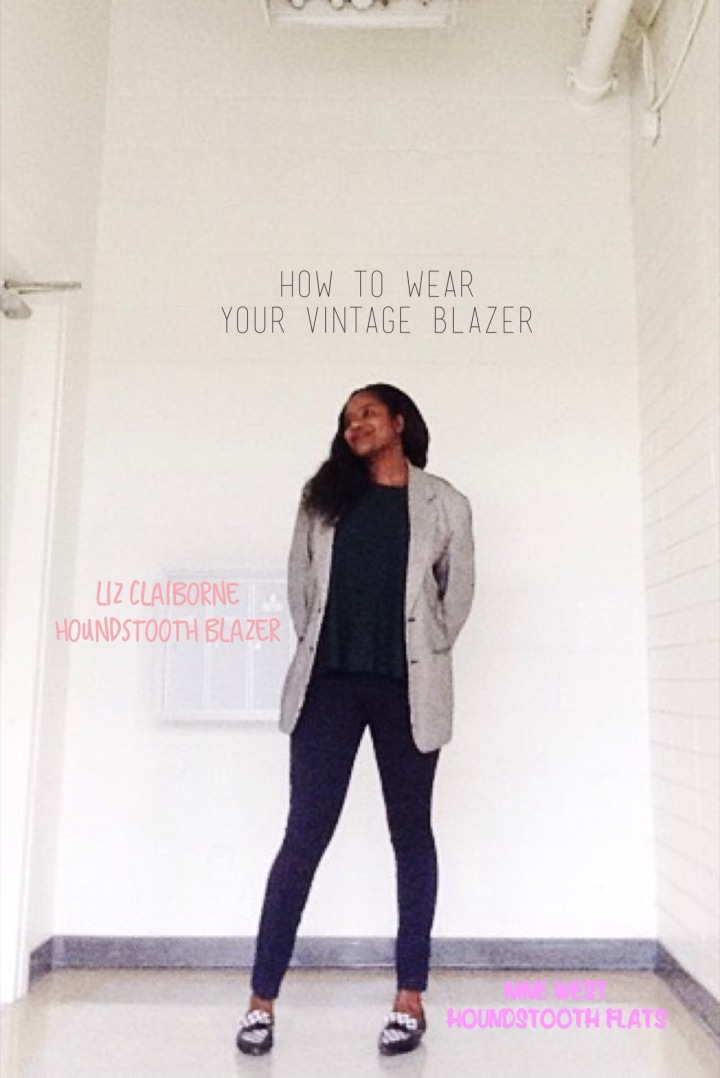 How to wear your vintage blazer.