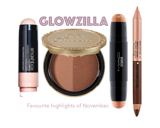 GLOWZILLA! – My November Favourite Highlighters.