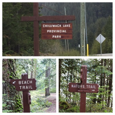 Signs at Chilliwack Lake Provincial Park