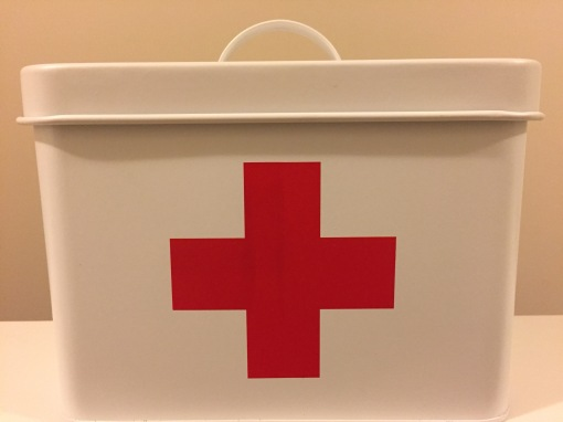 Vintage inspired FIRST AID canister