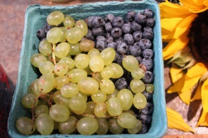 Grapes and Blueberry