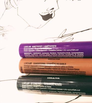 NYX Liquid Suede Lipsticks 1. Amethyst 2. Sandstrom 3. Stone Fox