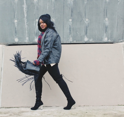 Street style, Photoshoot, model, plus size model, boots,winter, shopping, gift giving, fashion, black girls who blog, black fashion, high fashion, black boots, tigh high boots, sexy boots, sex, sex kitten, mirror, fashion blogger, fashion, fashion killer, fashion mom, vancouver, canada, pr friendly, reviews, urban planet,