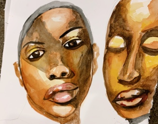 natoya ellis, natoya ellis artist, watercolor,watercolour, watercolour artist, watercolor artist, watercolorist, watercolourist, black artist, transgender, lgbtq, cis gender, art practice, black woman art, painting, painting of the day, canadian artist, sunday best,