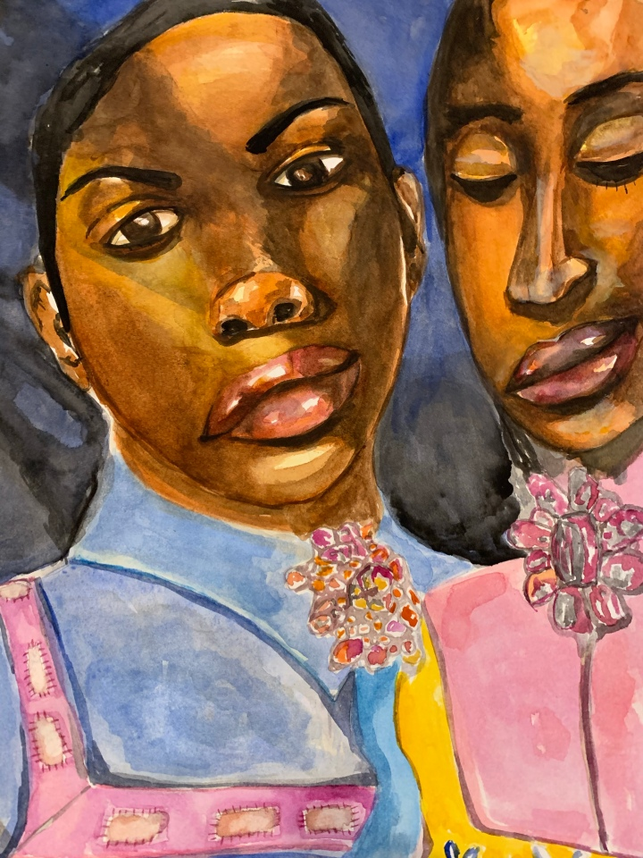 watercolor,watercolour, watercolour artist, watercolor artist, watercolorist, watercolourist, black artist, transgender, lgbtq, cis gender, art practice, black woman art, painting, painting of the day, canadian artist, sunday best,