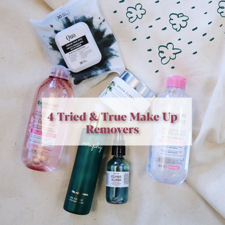 Four Tried and True Make up Removers.