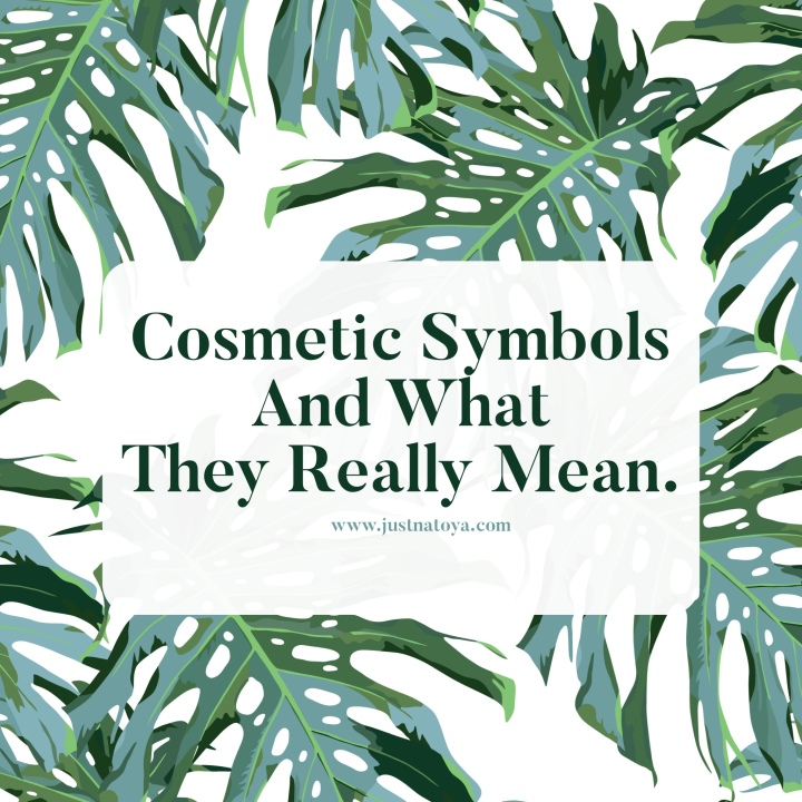 Cosmetic Symbols and What They ReallyMean.