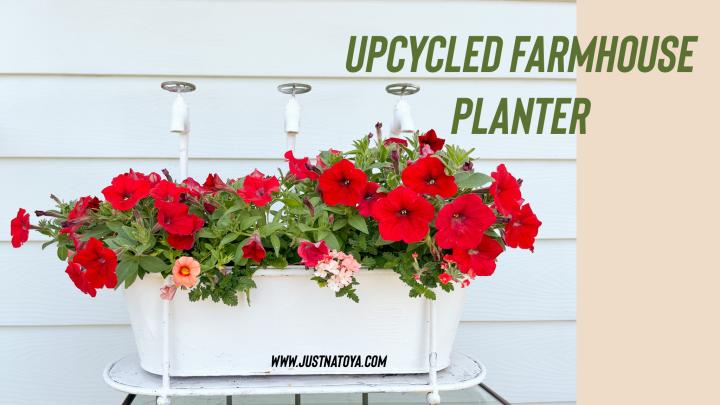 Up-cycled Farmhouse FlowerPlanter
